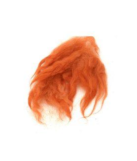 Натурални вълнени снопчета в оранжев цвят
