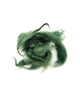 Натурални вълнени снопчета в зелен цвят