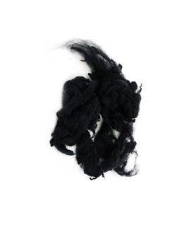 Натурални вълнени снопчета в черен цвят