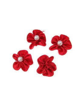 Роза с перла за декорация 23 mm