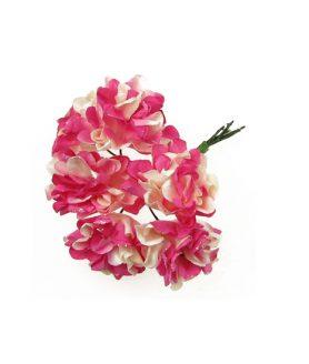 Букет хартиени цветя за декорация 40 mm