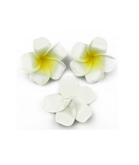 Гумирано цвете за декорация 65 mm