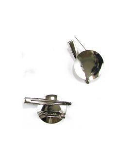 Метална основа за брошка с игла 30 x 45 x 7 mm