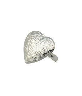 Метален пръстен сърце 16 mm