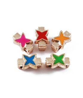 Пластмасова звезда за пронизване 14 x 8 x 7 mm АСОРТЕ