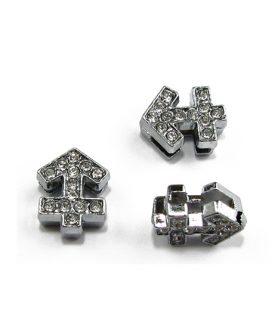 Метален елемент за пронизване със зодия Стрелец 11 mm