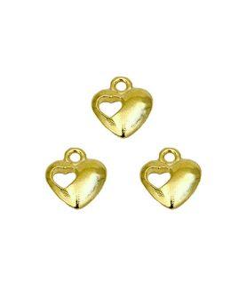 Метална висулка за бижута сърце 13 x 11 x 3 mm