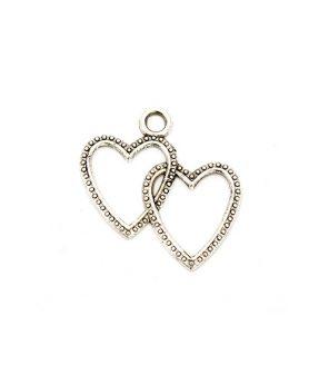 Метална висулка за бижута сърце 23 x 23.5 mm