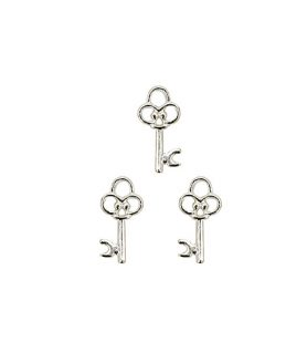 Метална висулка за бижута ключ 20 x 12 x 2 mm