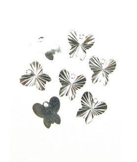 Пеперуда - метална висулка 10 х 10 mm