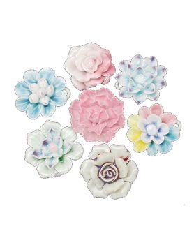 Порцеланова висулка цвете  39~49x37~49x15~18 mm АСОРТЕ