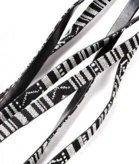 Комбиниран шнур от изкуствена кожа и текстил 10 x 2 mm