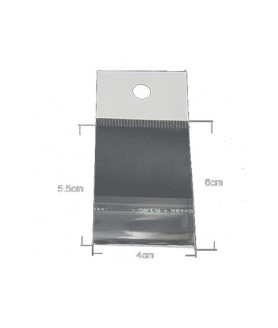 Щендерно пликче от целофан със залепване 4/5.5+2 cm