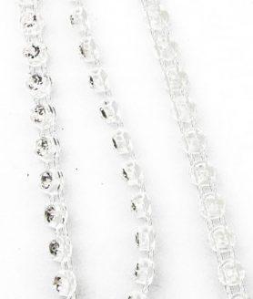 Лента - пластмасова  за бижута с кристали 3 mm x 1 m