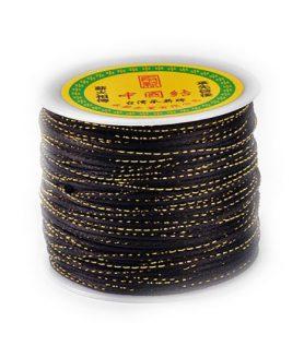 Полиестерен шнур с ламе за изработка на бижута 2 mm