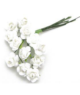 Букет хартиени  рози с тел 15 mm