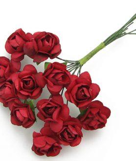 Букет хартиени рози с тел за декорация 20 mm