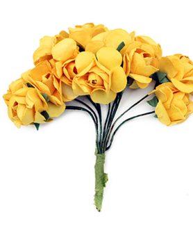 Букет хартиени рози с тел за декорация 20 x 80 mm