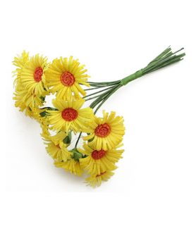 Букет хартиени цветя за декорация 20x 80 mm