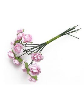 Букет хартиени цветя за декорация 15 mm
