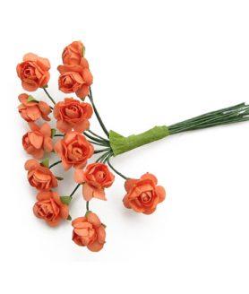 Букет хартиени цветя за декорация 15x80 mm