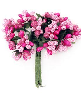 Букет хартиени цветя за декорация  80 mm