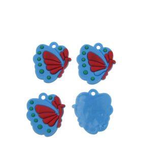 Пеперуда гумена фигура за декорация 20 mm