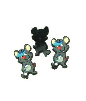 Мишка гумена фигура за декорация 60 x 33 x 3 mm