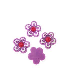 Цвете гумена фигура за декорация 17 x 3 mm