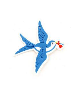 Птица гумена фигура за декорация 70 x 55 x 3 mm