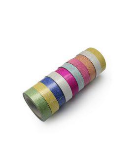 Текстилна лента с брокат 15 mm АСОРТЕ