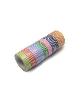 Залепваща текстилна лента 15 mm АСОРТЕ