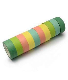 Крафт хартиено тиксо за декорация 15 mm АСОРТЕ