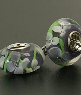 Стъклени мъниста с кристали 14 x 8 mm АСОРТЕ