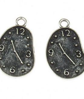 Метална висулка часовник 22.5x13x1 mm