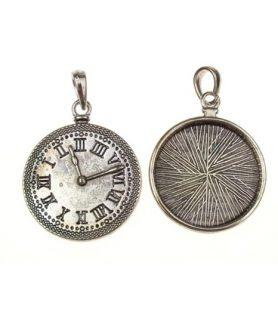 Метална висулка часовник 21x18x2 mm