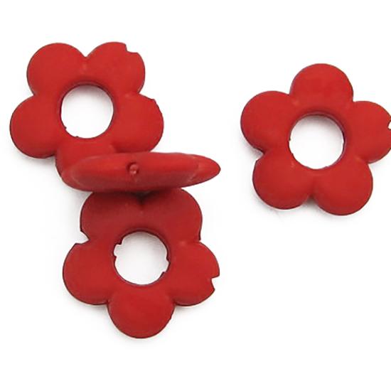 Матирани пластмасови мъниста цвете 19x4 mm