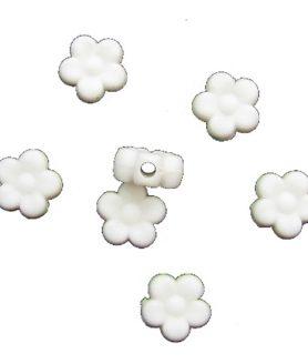 Матирани пластмасови мъниста цвете 9x4 mm