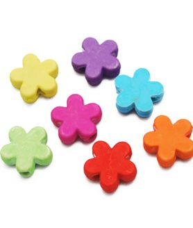 Матирани пластмасови мъниста цвете 12х12х4 mm