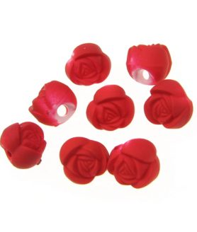 Пластмасови мъниста роза 10х8 mm