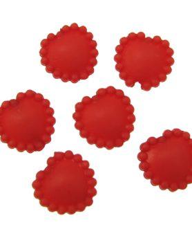 Пластмасови мъниста сърце 14х14х6 mm