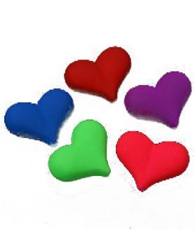 Пластмасови мъниста сърце 23х18х10 mm