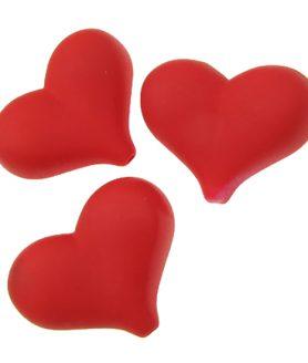 Пластмасови мъниста сърце 27х36х15 mm