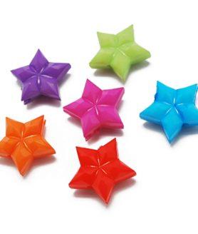 Пластмасови мъниста звезда 16х17х7 mm АСОРТЕ