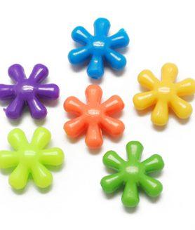 Пластмасови мъниста цвете 15х14х6 mm АСОРТЕ