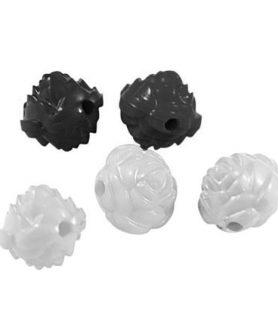 Пластмасови мъниста роза 24х24х24 mm