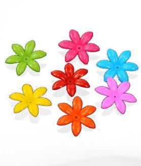Пластмасови мъниста цвете 35х8 mm АСОРТЕ