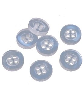 Пластмасови перлени копчета 9х2.5 mm