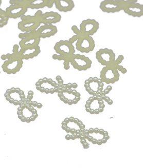 Пластмасов свързващ перлен елемент панделка 10х18х2 mm